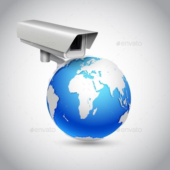 GraphicRiver Global Surveillance Concept 9476187