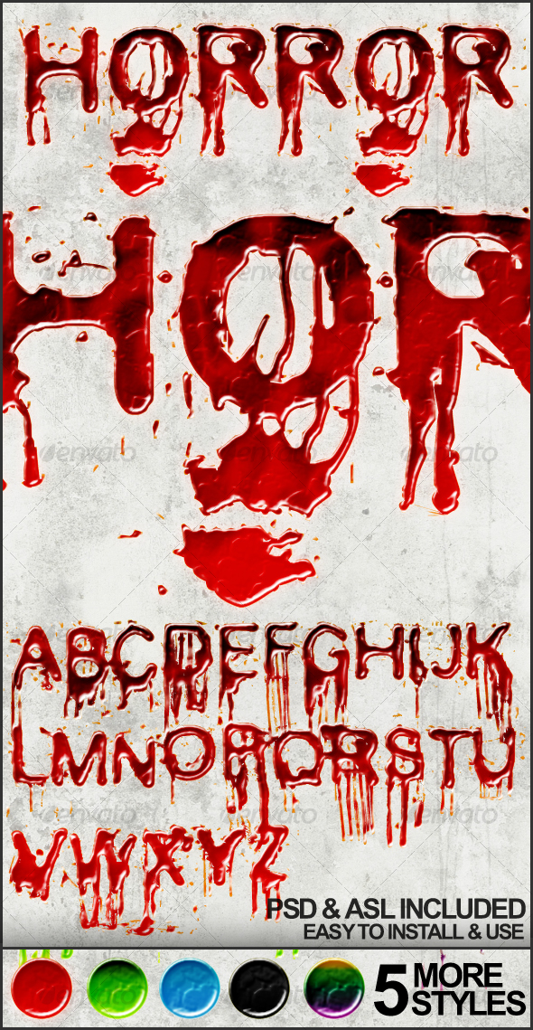 GraphicRiver Horror Blood Effects and Styles 121193