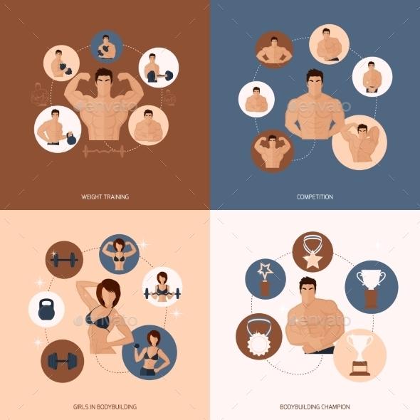 GraphicRiver Bodybuilding Fitness Gym Set 9476247