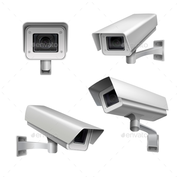 GraphicRiver Surveillance Camera Set 9476253