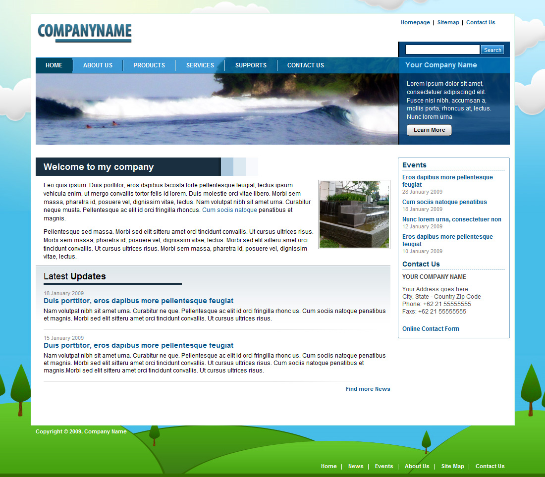 Blue Nature Corporate / Business Layout - Blue Nature Corporate / Business Layout - Homepage