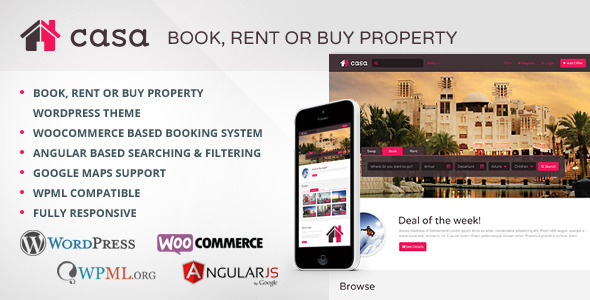 ThemeForest Casa Book Rent or Buy Property 9274828