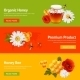 Honey Banner Set - GraphicRiver Item for Sale