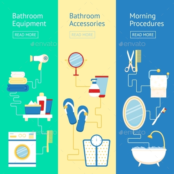 GraphicRiver Bathroom Banner Set 9476312