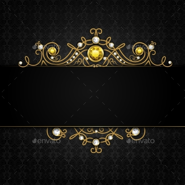 GraphicRiver Jewelery Black Background 9476360