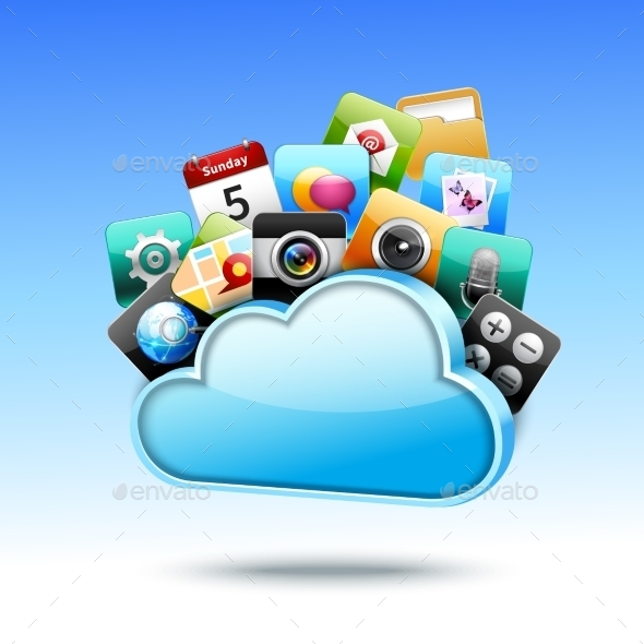 GraphicRiver Cloud 3D Storage 9476377