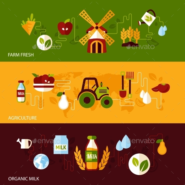 GraphicRiver Agriculture Banner Set 9476434