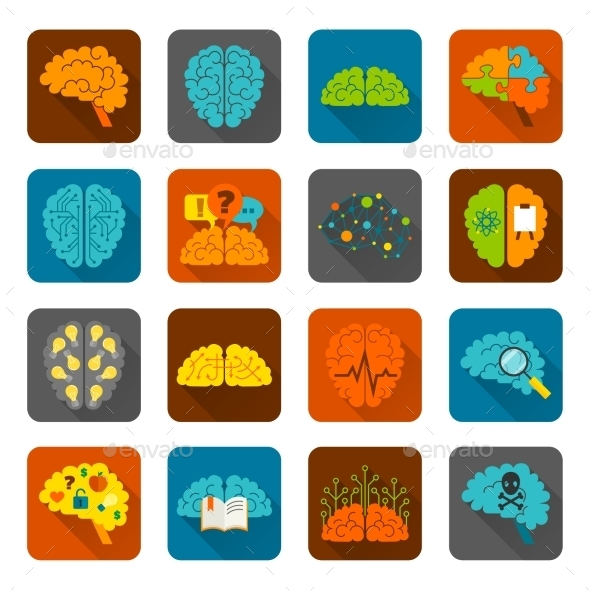 GraphicRiver Brain Icons 9476774