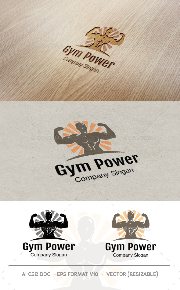 GraphicRiver Gym Power Logo 9476781