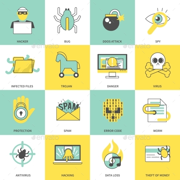 GraphicRiver Hacker Icons 9476828
