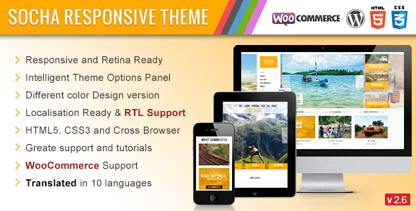 Socha Responsive WordPress Theme - Photography Creative