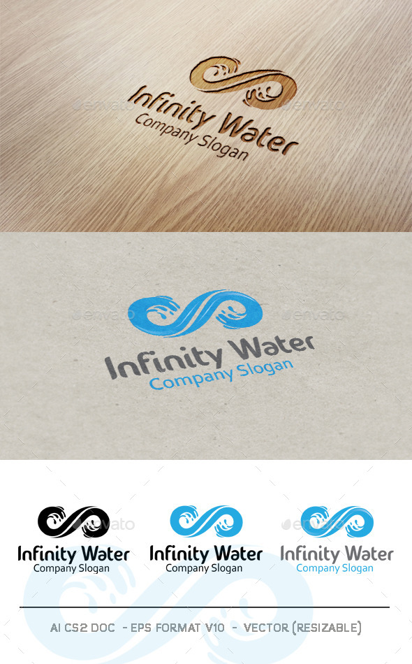 GraphicRiver Infinity Water Logo 9476847