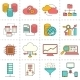 Data Analysis Flat Line Icons - GraphicRiver Item for Sale