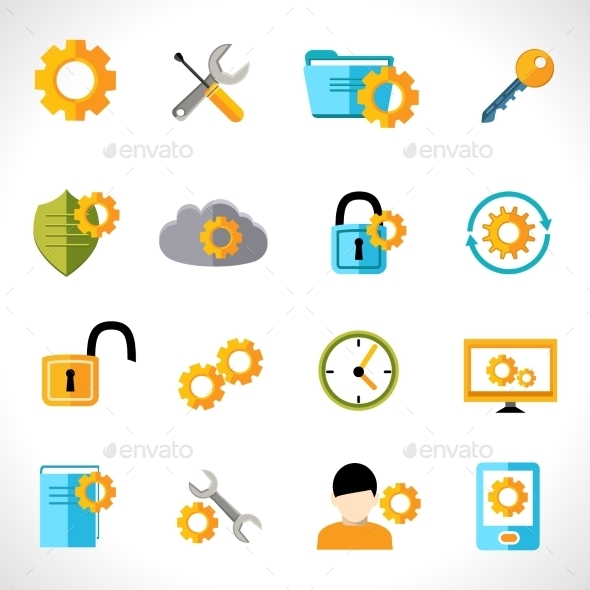 GraphicRiver Settings Icons 9476974