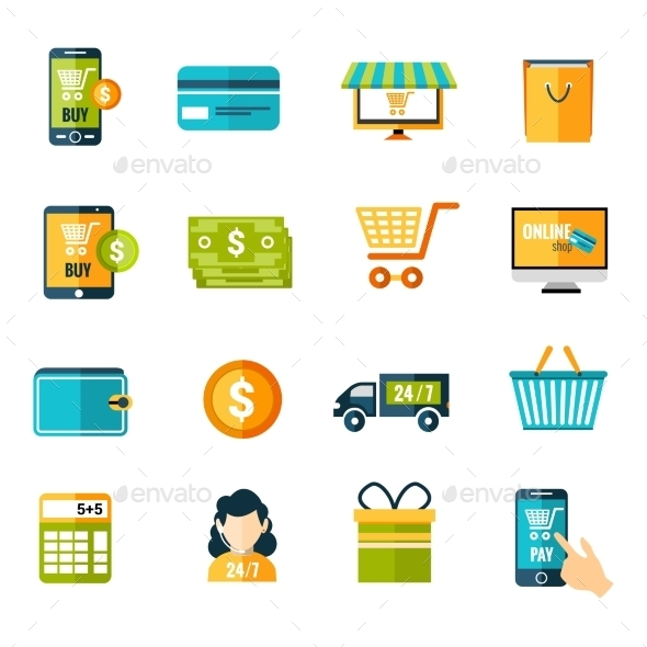 GraphicRiver E-Commerce Icons Set 9476979