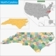 North Carolina Map - GraphicRiver Item for Sale