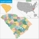 South Carolina Map - GraphicRiver Item for Sale