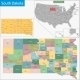 South Dakota Map - GraphicRiver Item for Sale