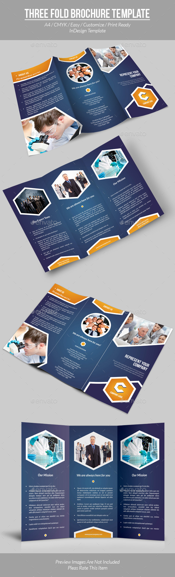 GraphicRiver Three Fold Brochure Template 9477440