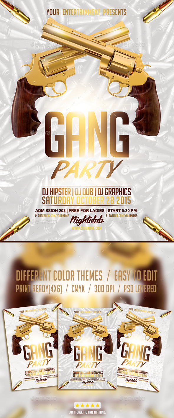 GraphicRiver Gang Hip Hop Party PSD Flyer Template 9442014
