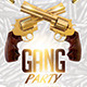 Gang Hip Hop Party PSD Flyer Template - GraphicRiver Item for Sale