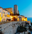 Medieval fortress at dawn Antibes, France - PhotoDune Item for Sale