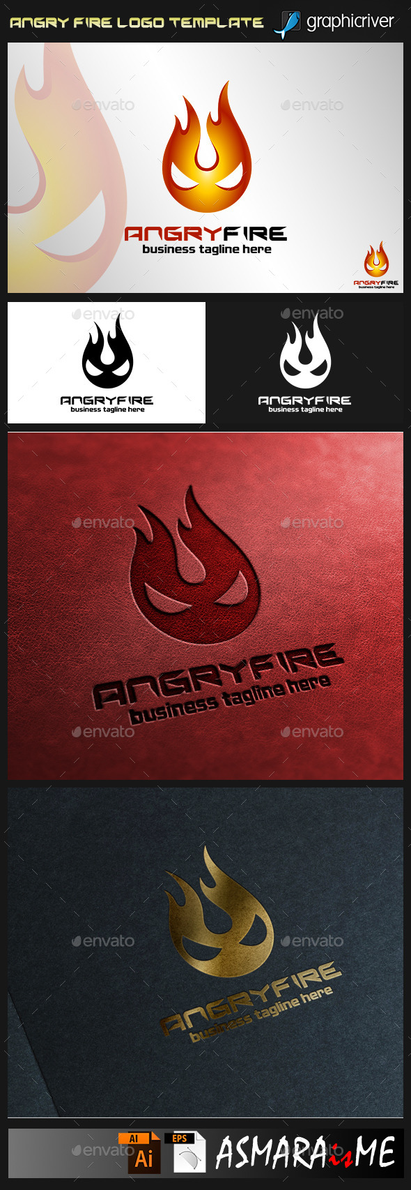GraphicRiver Angry Fire Logo 9478924