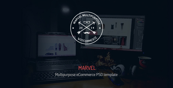 ThemeForest Marvel MultiPurpose eCommerce PSD Template 9478948