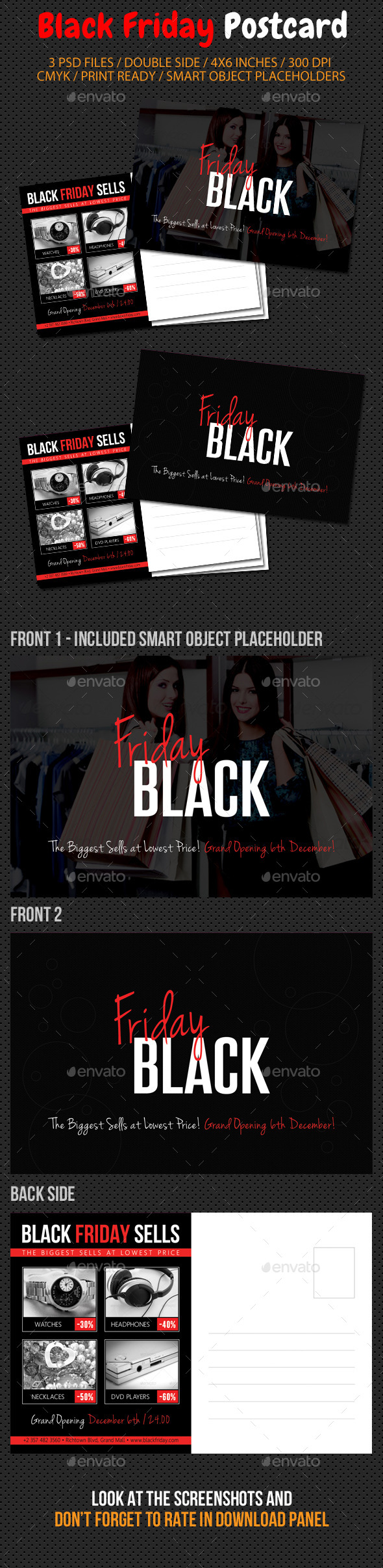 GraphicRiver Black Friday Postcard Template V01 9478970