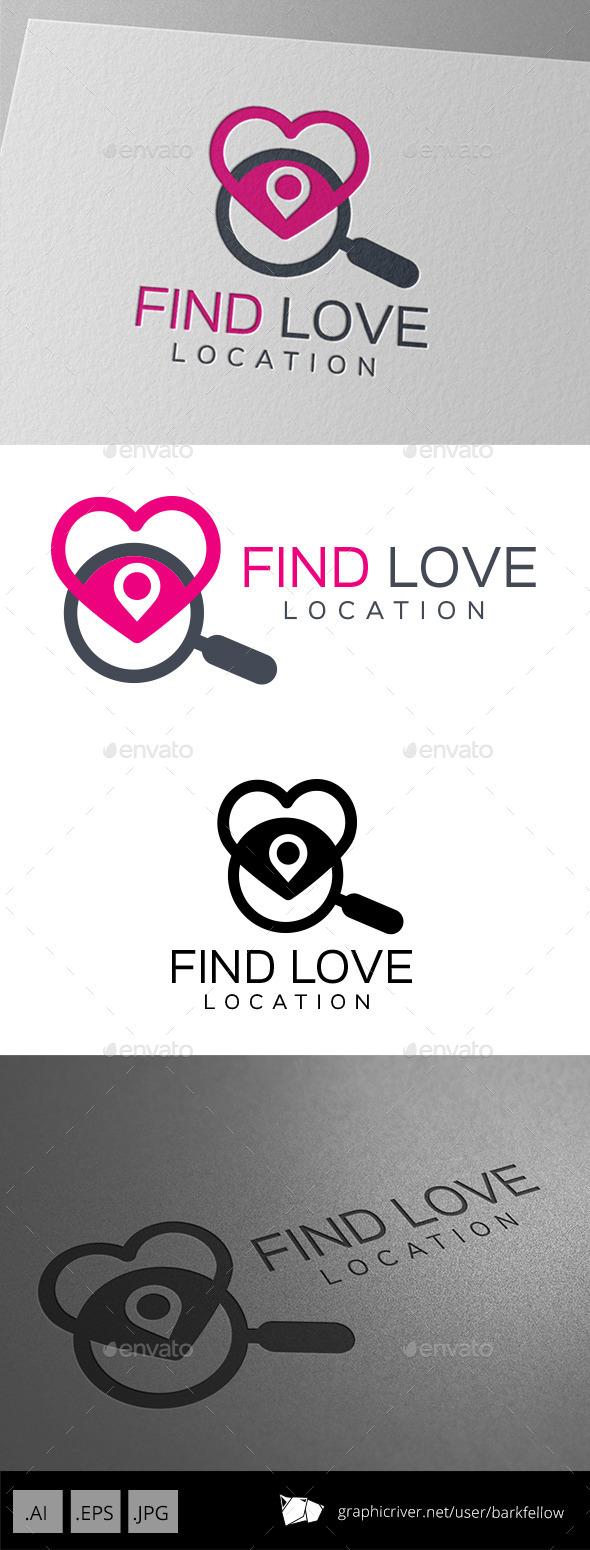 GraphicRiver Find Love Location Logo 9479120