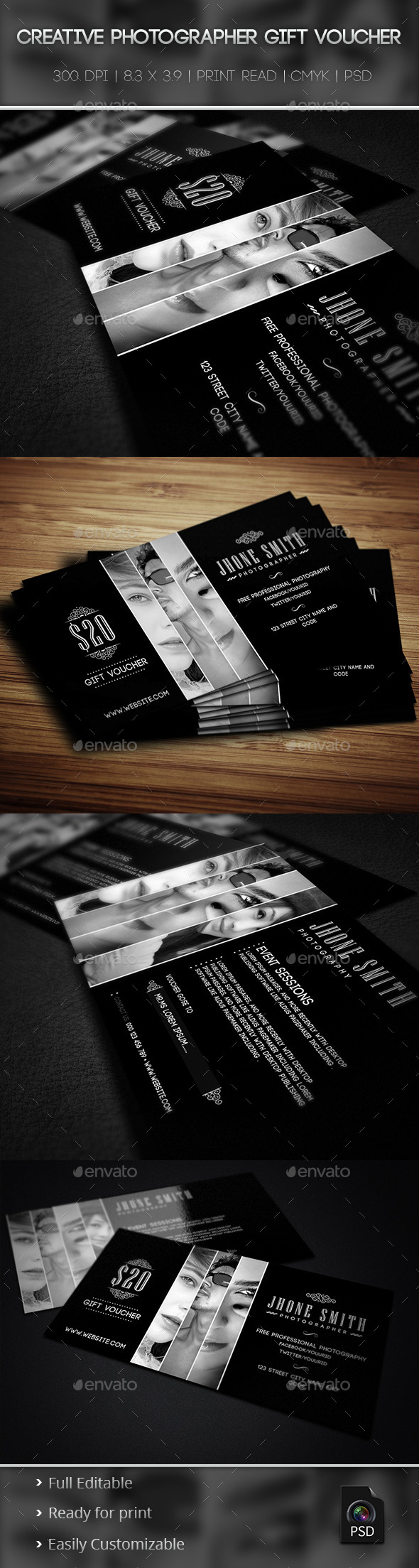 GraphicRiver Creative Photographer Gift Voucher 01 9439425