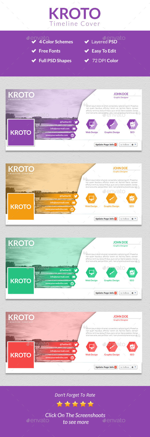 GraphicRiver Kroto Facebook Timeline Cover 9479213