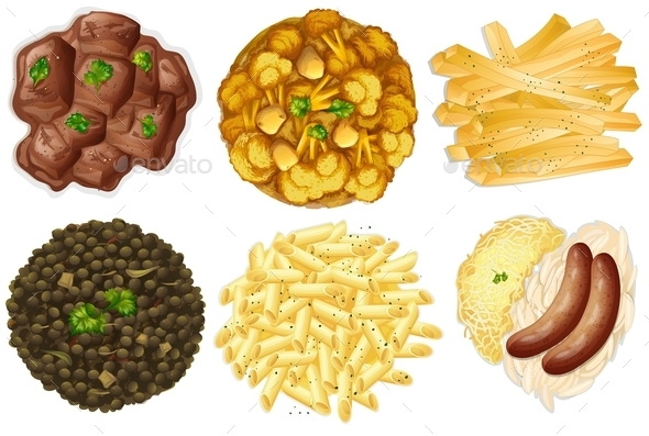 GraphicRiver Different Sets of Foods 9479725