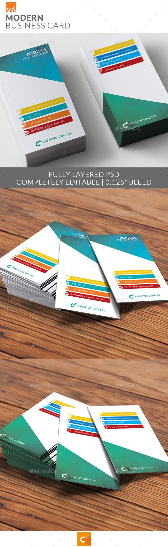 GraphicRiver Modern Business Card v6 9480134