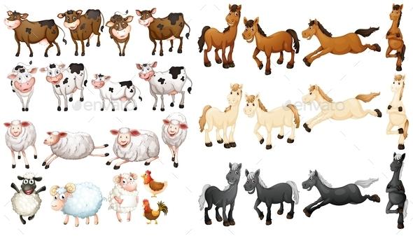 GraphicRiver Farm Animals 9480481