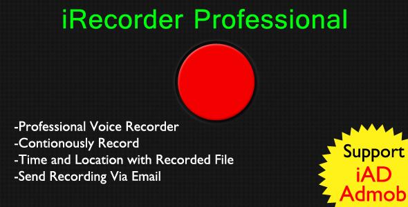 CodeCanyon iRecorder Professional 9480881