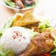 Malaysian food nasi ayam penyet - PhotoDune Item for Sale