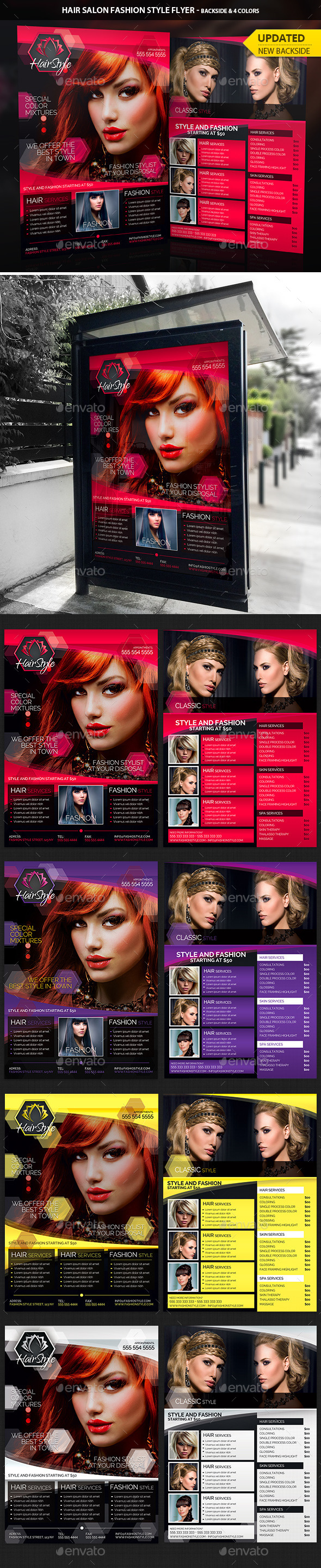Hair Salon Fashion Style Business Flyer Graphicriver