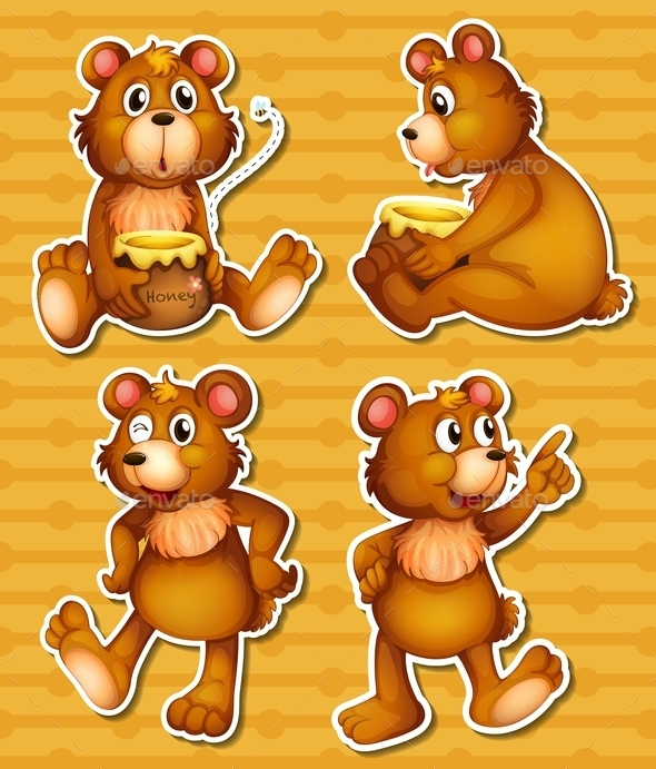 GraphicRiver Bear and Honey 9481577