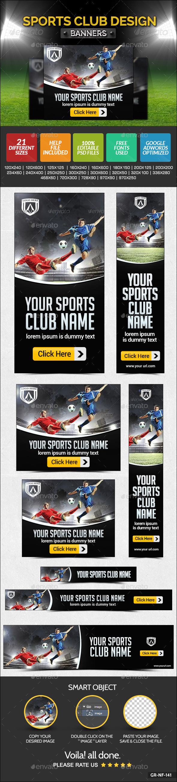 GraphicRiver Sports Club Banners 9481965