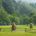 haystacks in the mountain valley - PhotoDune Item for Sale