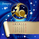Zodiac Calendar Page - GraphicRiver Item for Sale