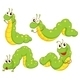 Four Green Caterpillars - GraphicRiver Item for Sale