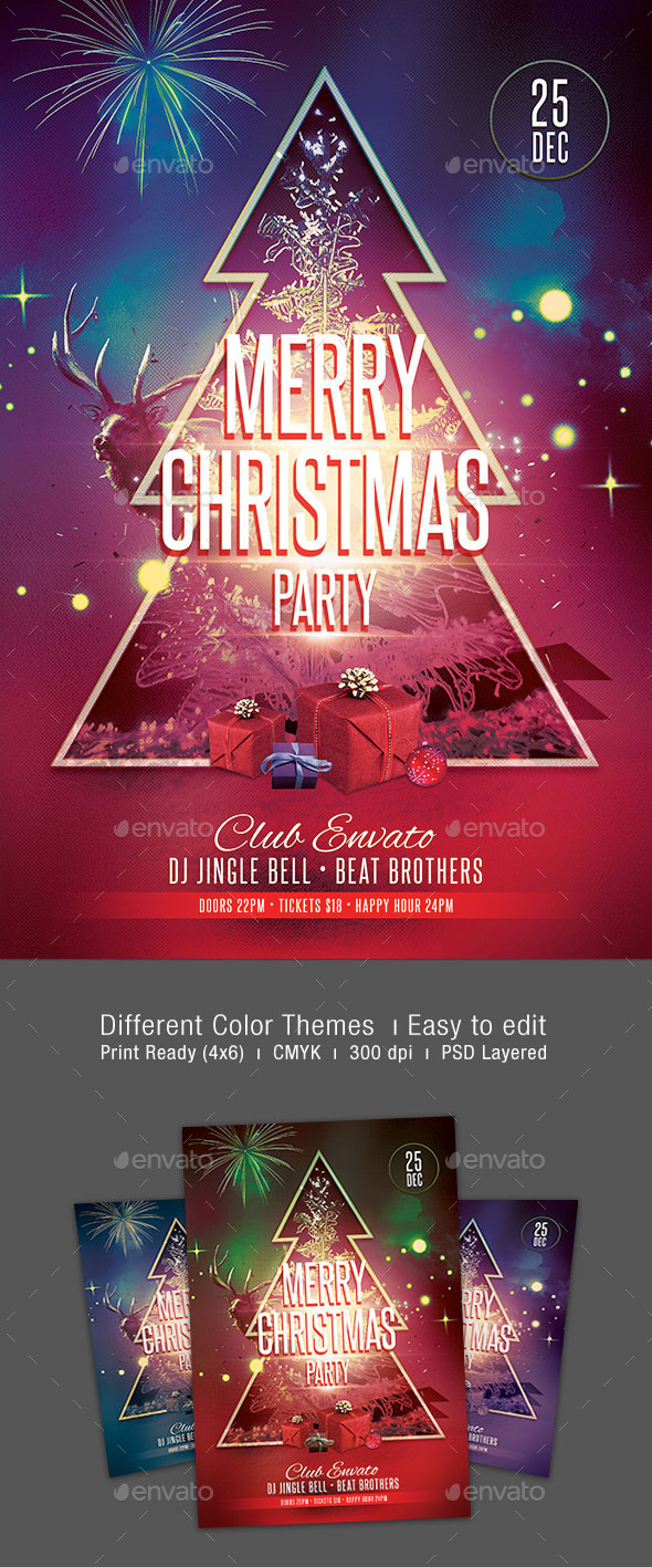 GraphicRiver Merry Christmas Party Flyer 9482463