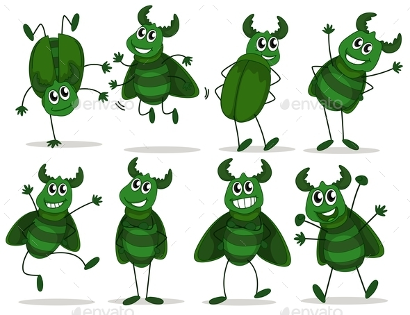 GraphicRiver Green Bugs 9482519