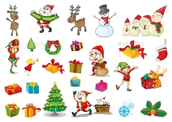 GraphicRiver Christmas Set 9482769