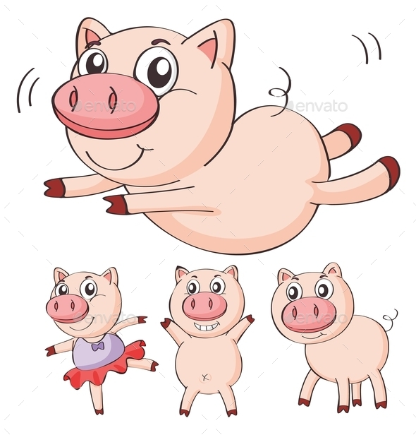 GraphicRiver Pigs 9484392