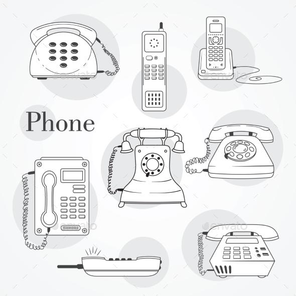 GraphicRiver Phone Set 9484395