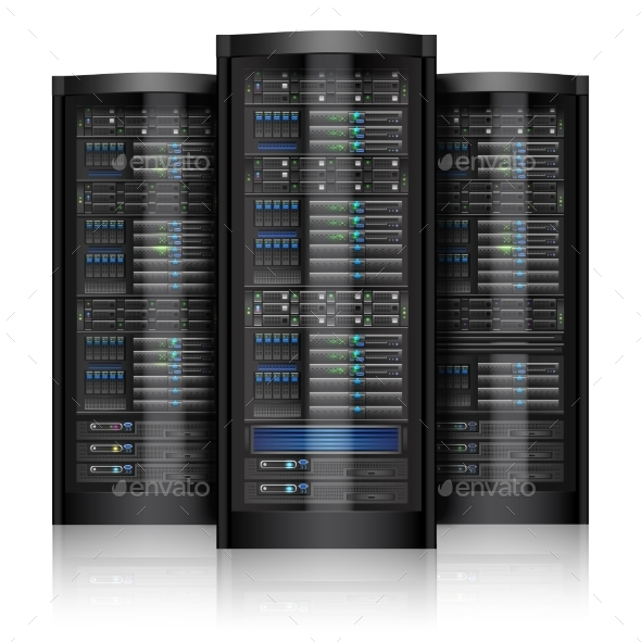 GraphicRiver Network Servers Isolated 9484399