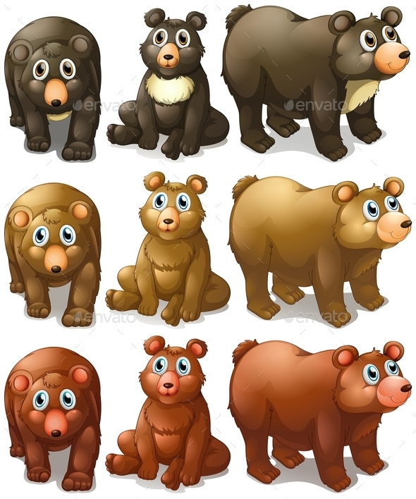 GraphicRiver Collection of Bears 9484403
